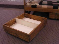 """Under-Bed Storage Drawer Sets    $100  DR-100 Single Drawer  (for use under L-shaped Bunk Bed)  $190  DR-200 Double Drawer Set  (Each Drawer is 9""""H x 42""""D x 37""""W)  $240  DR-300 Triple Drawer Set  (Each Drawer is 9""""H x 42""""D x 27""""W)"""