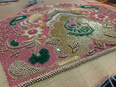 Hand Designs, Designs To Draw, Half Saree Function, Peacock Embroidery Designs, Maggam Work Designs, Jewelry Design Drawing, Blouse Designs Silk, Work Blouse, Sleeve Designs