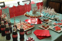 I love the idea with bottles with straws for a lingerie shower