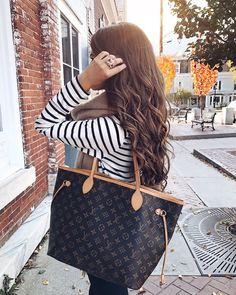 striped top, Louis Vuitton neverfull mm (Top Design Girls)