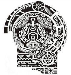 the rock dwayne johnson maori polynesian tattoo stencil template