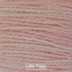 A ColourSpun Pure Cotton yarn and embroidery thread colour swatch. This colour is called Little Piggy and is available on all our cotton bases. #colourspun #cotton #pink Colour Swatches, Super Chunky Yarn, Fabric Yarn, Embroidery Thread, Fabric Design, Weaving, Colours, Pink, Cotton