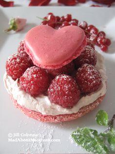 Rose Heart Macaron Valentine Dessert @Jill Colonna