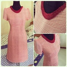 Ludmila's houndstooth Megan dress - sewing pattern in Love at First Stitch