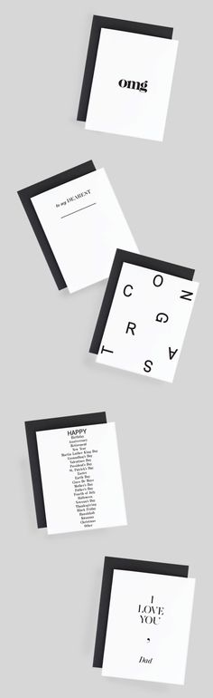 Say Happy Father's Day with a simple and modern card by The Savvy Heart.  Clean lines, typography and monochrome colors are just what the modern Dad wants.