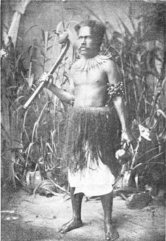 A Fijian warrior.