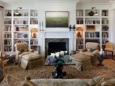 Built-in Bookshelves for Living Room as seen at Ford Plantation  via Between Naps on the Porch