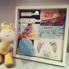 I want to make one of these. <3 Three Sisterz: Newborn Momento Shadowbox