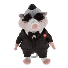 Get up to no good at playtime with Mr. Big, the villainous, Mafioso shrew of Zootropolis! Featuring a detailed satin three piece suit with matching bowtie, he is finished with soft plush and fur eyebrows.