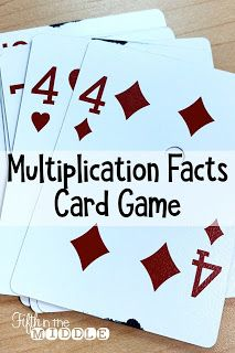 How To Produce Elementary School Much More Enjoyment Multiplication Fact Card Game Similar To Uno Maths 3e, Math Multiplication Games, Math Card Games, Fun Math Games, Multiplying Games, Math Fractions, Dice Games, Learning Games, Math Tutor