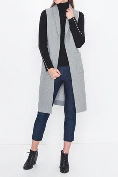 bcc921428d Movint Heather Gray Vest from New York City by Jupe — Shoptiques Grey Vest,  Grey