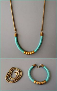 DIY Wrapped Rope Hardware Bracelet to Necklace Tutorial from Thanks, I Made It : truebluemeandyou
