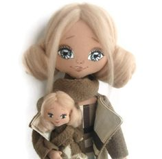 Cloth doll - Lora. Art doll. Textile doll.