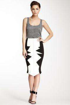 Kelly Wearstler Organto Mirco Stretch Knit Skirt