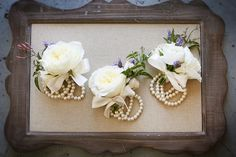 by Peony and Plum. wrist corsages