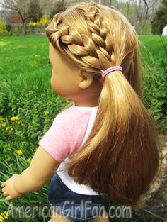 Doll Hairstyles Fascinating Easy Halfup Twist Hairstyle With Braids For American Girl Dolls