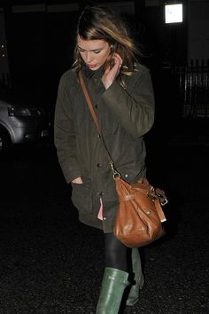 Billie Piper Wearing Barbour