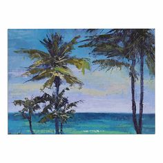 KESS InHouse Carol Schiff 'Room with a View' Blue Teal Dog Place Mat, 13' x 18' -- Don't get left behind, see this great dog product : Dog food container