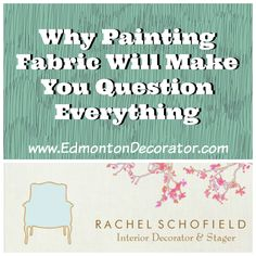 Why Painting Fabric Will Make You Question Everything