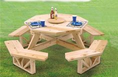 Octagon Picnic Table Woodcraft Project Woodworking Pattern Workshoppe Originals http://www.amazon.com/dp/B0039OULR6/ref=cm_sw_r_pi_dp_Qa4Mtb1F5ED3VXR4