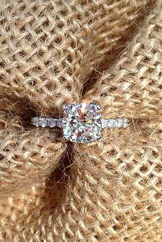 cushion cut diamond engagement rings 6