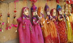 Rajasthan Puppets. In a rainbow of colors. If everything in life could possibly be this beautiful...