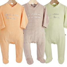 Lot de 3 pyjamas velours