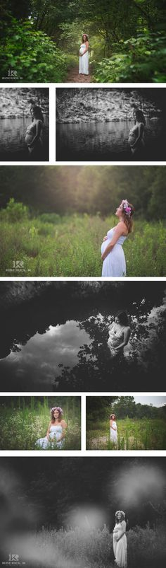 Boho maternity session by northern Virginia on location maternity photographer Rachel K Photo.