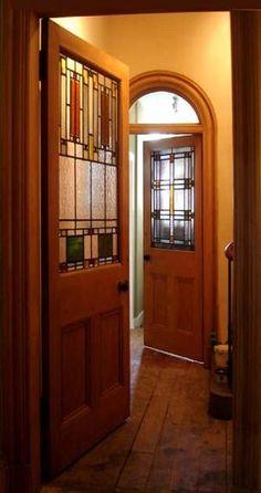 Frank Lloyd Wright style doors