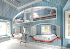 Sleepover Room, Blue Bedroom, Bedroom Setup, Seaside