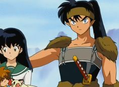 Koga and Kagome <3 at some point I use to ship this couple!! It's hilarious how inuyasha gets jealous :P