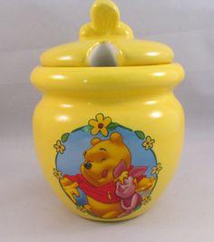 Nice Disney Vintage Winnie The Pooh Honey Pot by TimeGoneByVintage, $18.00
