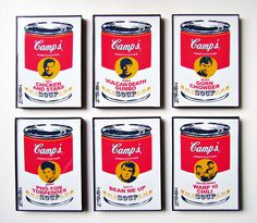 Star trek Warhol inspired soup cans