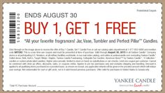 Pinned August 27th: Second candle free at #YankeeCandle or online via promo code WITCH2 #coupon via The #Coupons App