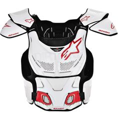 Alpinestars A8 BNS Chest Protector - White Red