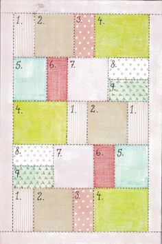 Easy quilt pattern by teradeeg