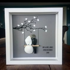 Small Business that creates handmade unique artwork Pebble Painting, Pebble Art, Picture Boxes, Pebble Pictures, Personalised Frames, Arts And Crafts, Diy Crafts, Art And Craft Design, Stone Sculpture