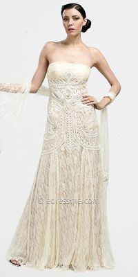 Embellished Lace Evening Dresses by Sue Wong----- This is my dream wedding dress
