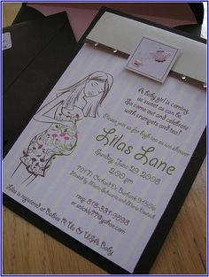 cool Baby Shower Invitations With Sonogram Picture