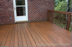 Staining Our Deck–Part Two - Sweet Pea
