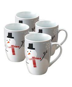 Rachael Ray Holiday Hoot And The Snowman Mugs Set of 4 - Red/Grey Christmas Gift Guide, Christmas Mugs, Christmas And New Year, Christmas Holidays, Christmas Crafts, Christmas Dinnerware, Christmas Ideas, Merry Christmas, Christmas Ornaments