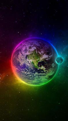 3D Color Earth Galaxy S6 Wallpaper