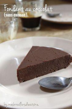 Fondant au chocolat (sans cuisson).