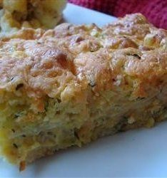 Recipe for Zucchini Cornbread Casserole - A delicious and easy to prepare side dish casserole loved by everyone in the family.