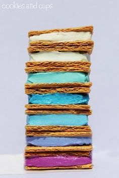 graham crackers + colorful frosting.