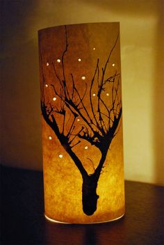 winter craft activity. Blow trees with straws, prick holes and fold around a jar with a light in it.