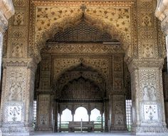 Beautiful Portals | waveofeuphoria: Inside of Diwan-i-Khas, India