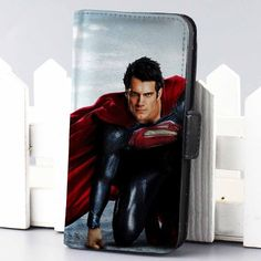 Men Of Steel superman superheroes wallet case for iphone 4,4s,5,5s,5c,6 and samsung galaxy s3,s4,s5 - LSNCONECALL.COM