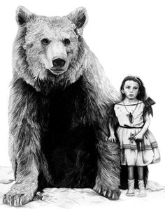 -depression is like a big bear walking with you, it's scary yet familiar...image by Amy Dover.