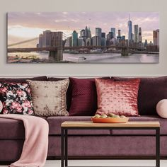 living room art decor images rooms 373 best in 2019 big canvas new york city skyline at dawn canvasliving artbrooklyn